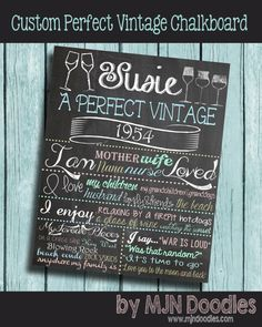 Celebrate the birthday of a loved one with our On This Day custom adult birthday chalkboard poster from MJN Doodles. Digitally crafted in meticulous