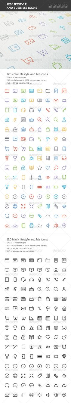 Buy Lifestyle and Business Icon Set by mir_design on GraphicRiver. Simple and colorful lifestyle and business icon set. The set can be used for: websites, print templates, presentation. All Icon, Icon Set, Best Icons, Icon Design, Design Art, Business Icon, Print Templates, Presentation Templates, Simple Designs