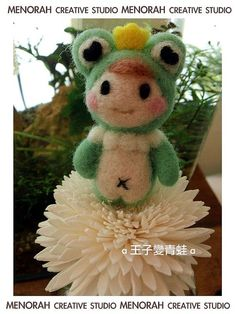 Prince Frog Wool Needle Felting Craft Kit