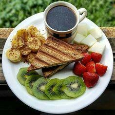 Breakfast Snacks, Healthy Breakfast Recipes, Healthy Snacks, Healthy Eating, Healthy Recipes, Breakfast Toast, Vegetarian Breakfast, Vegan Vegetarian, Food Goals
