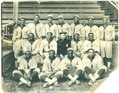 """""""On May 2, 1920, the first baseball game of the Negro National League was played in Indianapolis. Led by Rube Foster, owner and manager of the Chicago American Giants, the league consisted of 24 teams and remained in existence until 1931."""" vía The American Experience (FB)"""