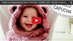 Hoy aprendemos a tejer un hermoso cuello para niños con capucha, con diseño de Osito. Divertido y a...