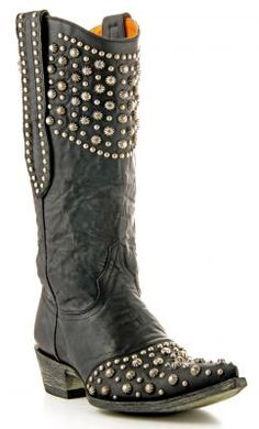 Womens Old Gringo Leigh Anne Boots Black #L676-1 via @Allens Boots