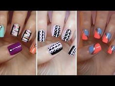 Easy Nail Art For Beginners!!! #7 I love her beginners tutorials and this was my favorite so far. I love all three designs.