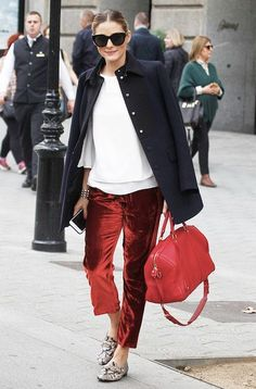 How to Pull Off The Velvet Pant Trend Like Olivia Palermo | Le Fashion | Bloglovin'
