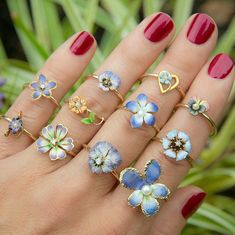 For all you flower ring enthusiasts... You know who you are  We just finished some new flower rings and have more on the way in the coming weeks.  Most of these are now listed in our shop.  #showmeyourrings #lovegold #lovegoldlive #neverenoughrings #flowerring #finejewellery #goldjewelry #goldjewellery #ringsofinstagram #goldrings #flowerjewelry #flowerjewellery