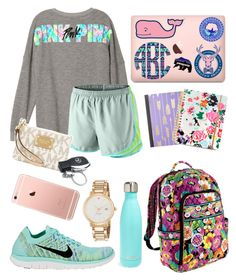 """School"" by jadenriley21 on Polyvore featuring NIKE, MICHAEL Michael Kors, Vera Bradley, Mercedes-Benz, ban.do, Vineyard Vines, S'well and Kate Spade"