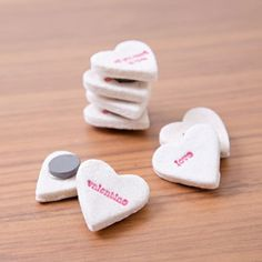 These conversation heart magnets are super easy and cheap to make, perfect for kids to give away.