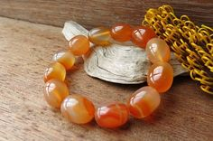 Your place to buy and sell all things handmade Diy Jewelry, Jewellery, Bracelet Sizes, Carnelian, Wicked, Rocks, Beaded Bracelets, Jewels, Gemstones