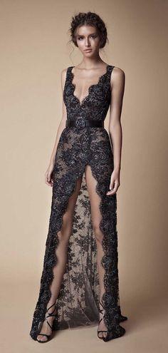 2019 Black Prom Dresses Sexy High Front Split Deep V Neck Full Lace Beaded Elegant Dresses, Pretty Dresses, Sexy Dresses, Fashion Dresses, Prom Dresses, Formal Dresses, Sexy Gown, Wedding Dresses, Pretty Clothes