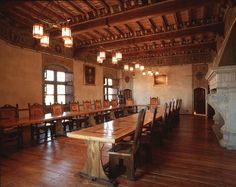 Medieval Castle for Sale in Northern Italy. Indeed, I plan on having lots of parties...you never know when you'll need a dining room like this...hmmm...
