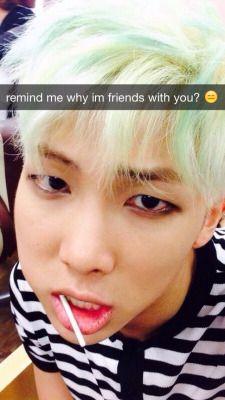 Response: um, cuz I'm sexy af? Namjoon, Seokjin, Hoseok, Taehyung, Rapmon, Bts Snapchats, Kpop Snapchat, Text Imagines, Imagination Quotes
