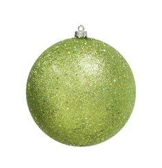 "Green Kiwi Holographic Glitter Shatterproof Christmas Ball Ornament 8"""" (200mm"
