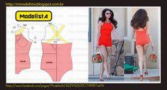 VINTAGE Swimsuit , patterns instructions