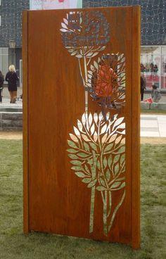 Cortenstahl sichtschutz online kaufen metallbau for Gartenschmuck aus metall