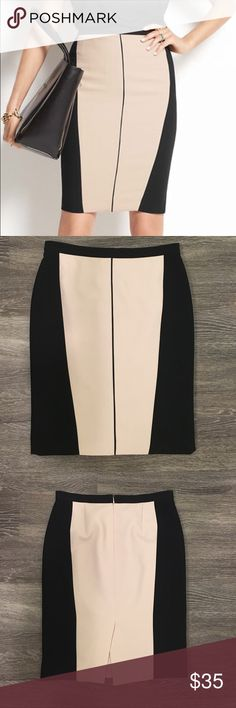 Ann Taylor Colorblock Pencil Skirt Elegant and form fitting, great skirt for work and play. Pre-owned in good condition. Ann Taylor Skirts Pencil