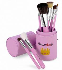 Kit de 7 pinceaux à maquillage avec étui rose - bestyle29.com