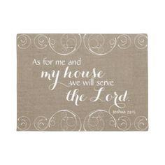 #Serve the Lord Rustic Doormat - #doormats #home & #living