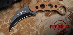 Desert Karambit Fixed Blade Emerson Knives, In Omnia Paratus, Survival Tools, Knifes, Metal Art, Weapons, Blade, Deserts, Steel