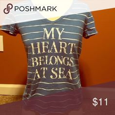 My Heart Belongs at Sea Tee ⚓️ Great condition! Tommy Hilfiger Brand. Bundle and save 30%! Tommy Hilfiger Tops Tees - Short Sleeve