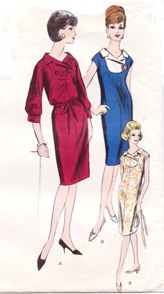 Vintage 70s Vogue Sewing Pattern 6007 Womens One Piece Dress Yoke Front Size 14 Bust 34