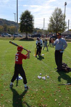 Batting practice at 2011 Legends Clinic
