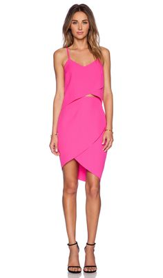 ELLIATT The Shot Tulip Dress in Fuschia Pink | REVOLVE