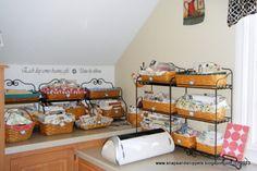longaberger decorating ideas | Scrapbook Studio, Maple cabinetry and maple Longaberger baskets and ...