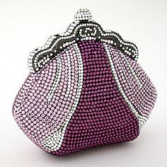 Letty purple crystal evening bag, $750. Why is everything I love so expensive?