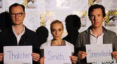 There are just TWO weeks left of filming for #Sherlock Series 4... 🎥  Following yesterday's Comic-Con panel, Mark Gatiss, Amanda Abbington and Benedict Cumberbatch released three names as a sign of things to come. What could they mean?  #BBCOne #SDCC #SDCC2016 #BTS