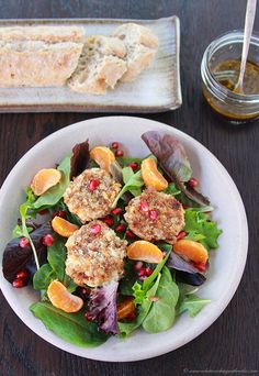 Baked Goat Cheese Salad With Creamy Walnut Vinaigrette Recipes ...