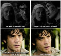 Bellamy Blake and Clarke Griffin || The 100 season 1 episode 8 - Day Trip & season 2 episode 16 - Blood must have blood pt 2 || Bellarke parallels || Bob Morley and Eliza Jane Taylor
