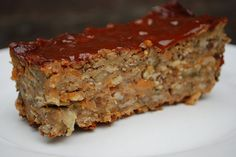 "Lentil ""Meatloaf"" with Tomato ""Jam"" by wakingupvegan, via Flickr"