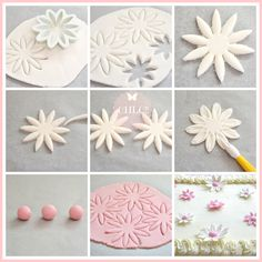 Cupcakes decoration fondant flowers polymer clay 48 ideas for 2019 Sugar Paste Flowers, Icing Flowers, Buttercream Flowers, Fondant Flowers, Fondant Rose, Fondant Icing, Fondant Cakes, Cake Decorating Supplies, Cake Decorating Techniques