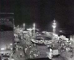 The midway on Front Street in the 1950s Memphis
