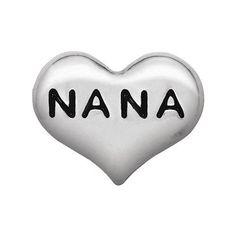 Origami Owl Custom Jewelry | Silver Nana Heart Charm www.charmingsusie.origamiowl.com