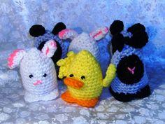 Pick 4 Four Custom Crochet Egg Cozy Easter by DiVerseBlessings, $12.00