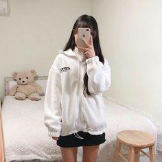 Athletic Fashion, Athletic Outfits, Casual Dresses, Prom Dresses, Korean Aesthetic, Korean Outfits, Korean Fashion, Adidas Jacket, Rain Jacket