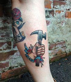 Cute mom and dad tattoos     by Alena Chun at Icon Tattoo in Portland, Oregon.