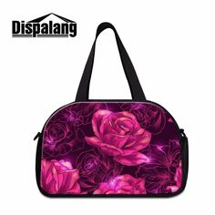 140eb82a4642 Dispalang brand designer women luggage bags pink floral striped prints  portable travel totes bag trip duffle bag with shoes unit