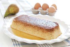 Receta de flan de peras o manzanas con Thermomix. Una postre sencillo y delicioso que podrás terminar de cocinar en el horno o en tu varoma.