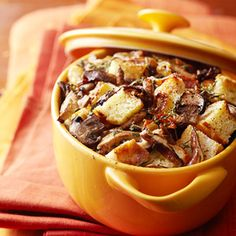 Wild Mushroom Bread Pudding From Better Homes and Gardens, ideas and improvement projects for your home and garden plus recipes and entertaining ideas.