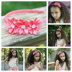 Pink hard headband - hard arch headband - pink flower headband - hot pink  arch hair band - hot pink e74ab080e5c