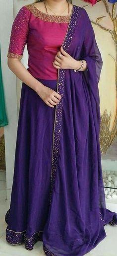 A modest lehenga- plus size fashion ethnic Half Saree Designs, Lehenga Designs, Saree Blouse Designs, Churidar Designs, Dress Designs, Indian Designer Outfits, Designer Dresses, Hindus, Lehnga Dress