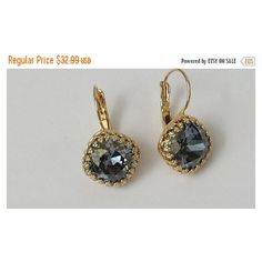 Blue Shade Crystal Earrings (€26) ❤ liked on Polyvore featuring jewelry and earrings