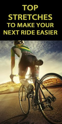 5 STRETCHES TO MAKE YOUR NEXT RIDE EASIER: http://thecyclingbug.co.uk/health-and-fitness/training-tips/b/weblog/archive/2014/07/18/5-stretches-to-make-your-next-ride-easier.aspx?utm_source=Pinterest&utm_medium=Pinterest%20Post&utm_campaign=ad If you want to perform at your best, it's vital to include stretching in your cycling regime. Not only do they help prevent injury, but can also increase your range of motion, flexibility and improve posture. #thecyclingbug #cycling #stretches