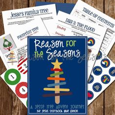 Reason for the Seasons. Advent activities based on the Big Picture Story bible and the Jesus Storybook Bible
