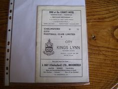 Away to Chelmsford City 1  Aug 1967  Southern League