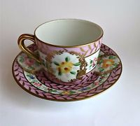 Antique Cup Candal Floral Portugal