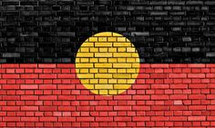 The Aboriginal flag is one of the symbols of National Sorry Day in Australia. Aboriginal Flag, Aboriginal Culture, Aboriginal People, National Sorry Day, Flag Quilt, Flag Painting, Mental Health Resources, Preschool Lessons, Indigenous Art